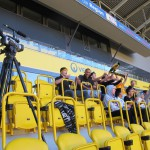 Mit Kamera unterwegs im Stadion